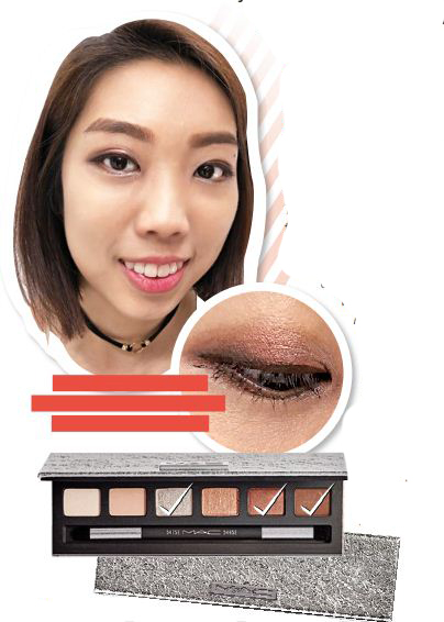 To create this look,  I used the middle and the  two darker shades.