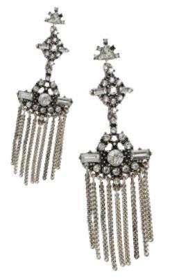 Topshop stone and tassel drop earrings, $26.90
