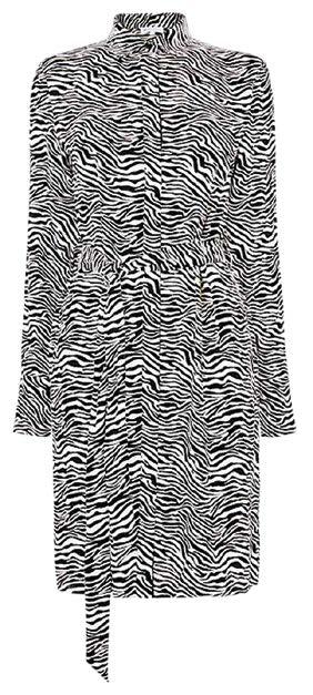 Warehouse zebra-print shirt dress, $77