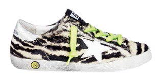 Golden Goose zebra-print calf hair sneakers, $344