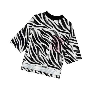 Asos zebra-print tee from asos.com, $45