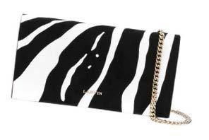 Lanvin zebraprint clutch bag, $915