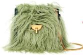 Faux fur mini bag with gold chain, $1,990, Dries Van Noten.