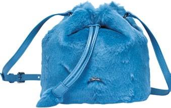 Give Me A Hug rabbit fur drawstring bucket, $805, Longchamp.