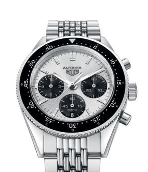 Steel Autavia Jack Heuer 85  Birthday Edition watch, $8,100,  TAG Heuer