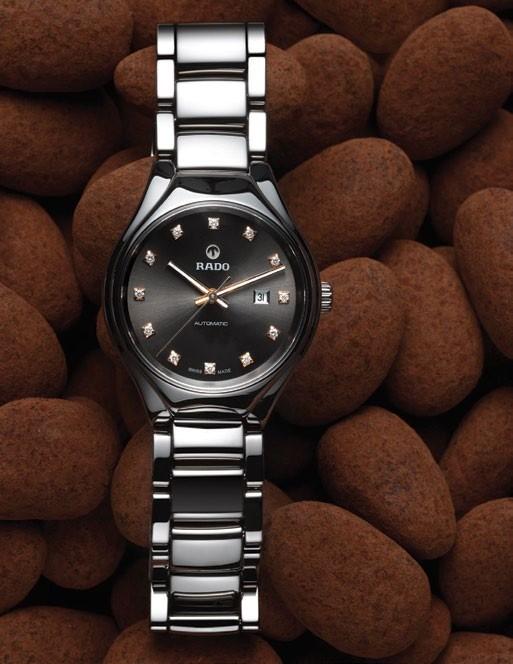 Ceramic and diamond True Diamonds (small) watch,  $3,080, Rado