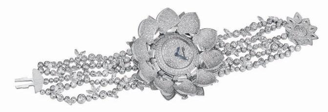 Platinum, titanium and diamond Lotus Blanc, Chopard