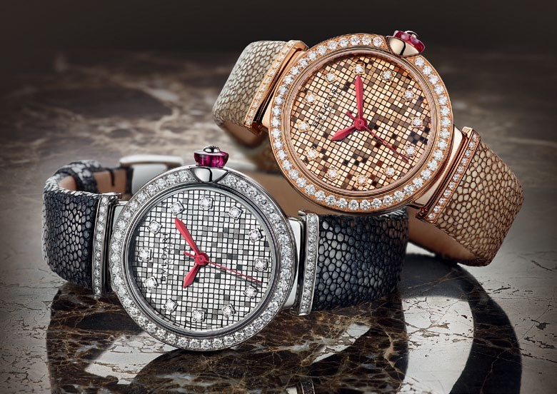 Bulgari's Lucea Mosaïque in white gold and rose gold with diamonds
