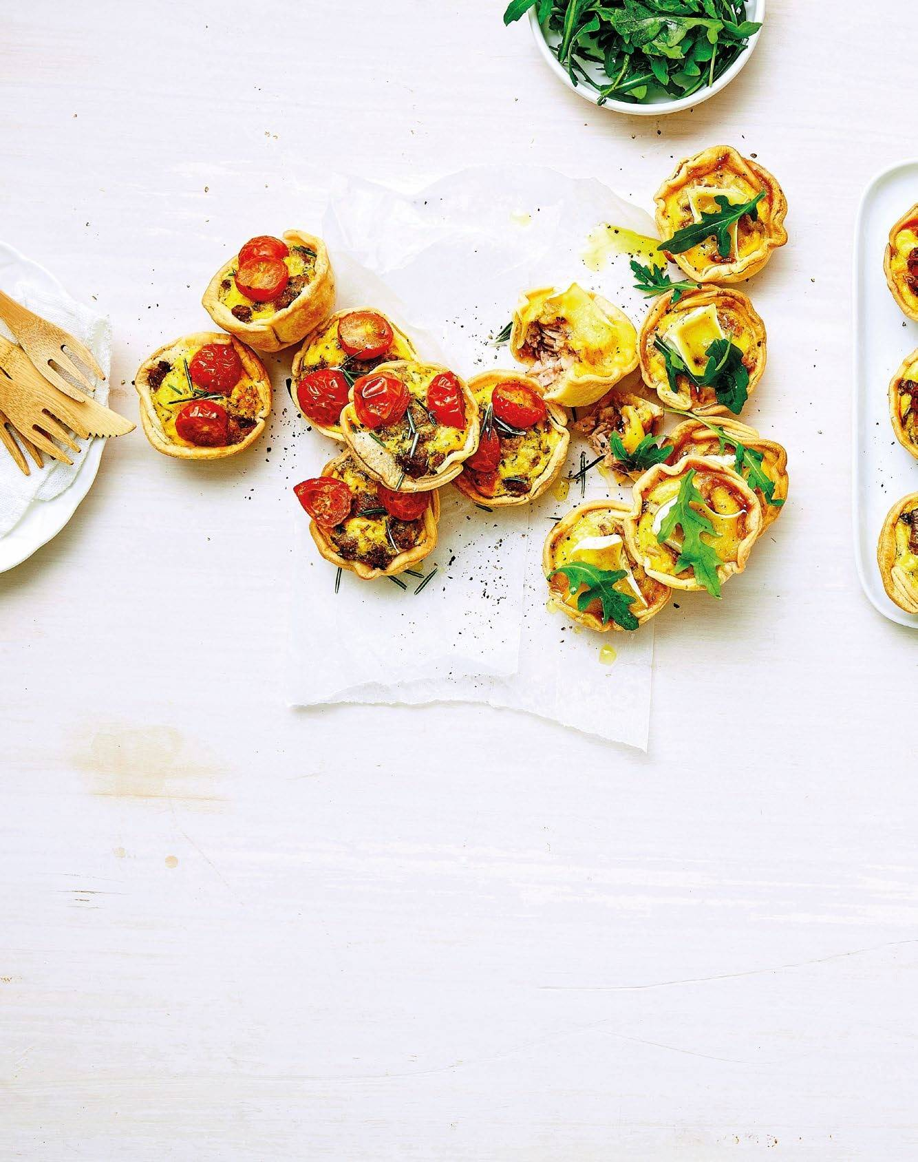 10 Ways With…  Mini Quiches
